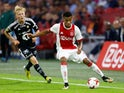 Ajax winger David Neres in action against Rosenborg during a Europa League playoff tie on August 17, 2017