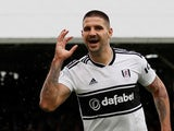 Aleksandar Mitrovic celebrates equalising during the Premier League game between Fulham and Watford on September 22, 2018