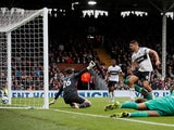 Aleksandar Mitrovic grabs the equaliser during the Premier League game between Fulham and Watford on September 22, 2018