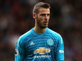 David de Gea in action for Manchester United on September 2, 2018
