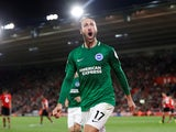 Glenn Murray celebrates his late equaliser during the Premier League game between Southampton and Brighton & Hove Albion on September 17, 2018