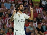 Isco celebrates scoring for Real Madrid on September 15, 2018