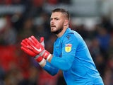 Jack Butland in action for Stoke City on September 18, 2018