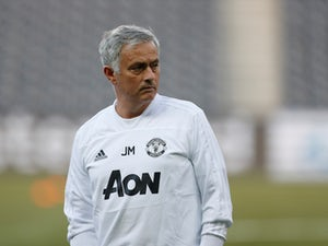 Jose Mourinho pictured during a Manchester United training session on September 18, 2018