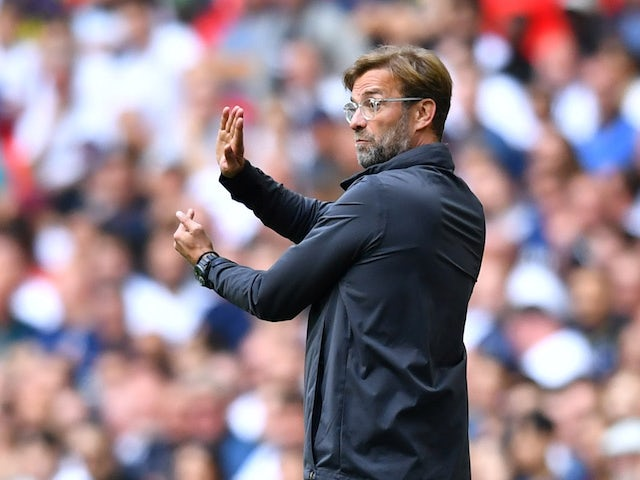 Liverpool manager Jurgen Klopp gestures on September 15, 2018