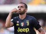 Leonardo Bonucci in action for Juventus on August 18, 2018