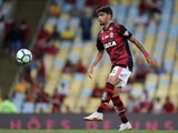 Lucas Paqueta in action for Flamengo on August 23, 2018