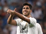 Marco Asensio celebrates scoring for Real Madrid on September 22, 2018
