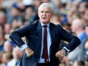 Mark Hughes in charge of Southampton on August 18, 2018