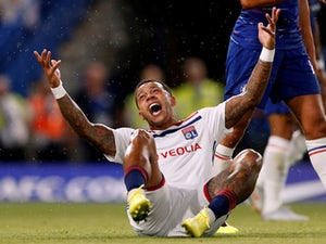 Memphis Depay in action for Lyon on August 7, 2018