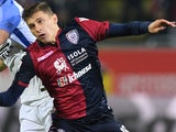 Nicolo Barella in action for Cagliari in November 2017