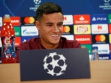 Philippe Coutinho during a Champions League press conference on September 17, 2018