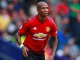 Ashley Young in action for Manchester United on August 19, 2018