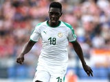 Ismaila Sarr in action for Senegal on June 8, 2018