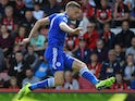 Jamie Vardy in action for Leicester City on September 15, 2018