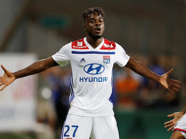 Maxwel Cornet in action for Lyon on July 19, 2018