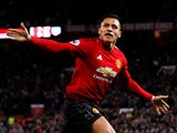 Manchester United forward Alexis Sanchez celebrates after scoring the winner against Newcastle United on October 6, 2018
