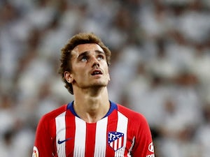 Antoine Griezmann in action for Atletico Madrid on September 29, 2018