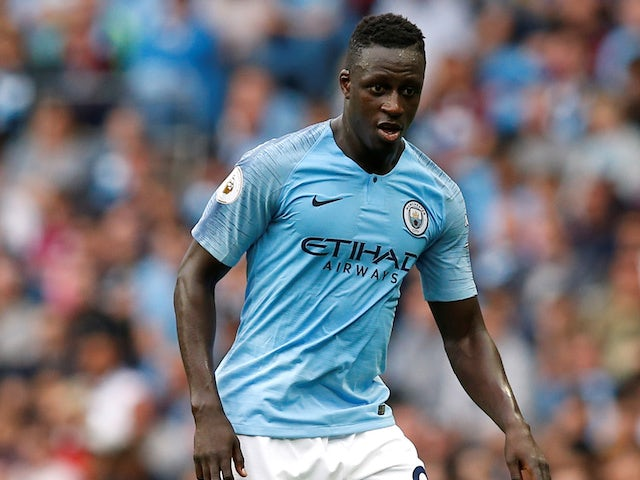 Benjamin Mendy in action for Manchester City on September 1, 2018