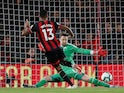 Callum Wilson's shot is saved by Wayne Hennessey during the Premier League game between Bournemouth and Crystal Palace on October 1, 2018