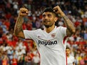 Ever Banega in action for Sevilla in the Europa League on September 20, 2018