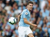 John Stones in action for Manchester City on August 19, 2018