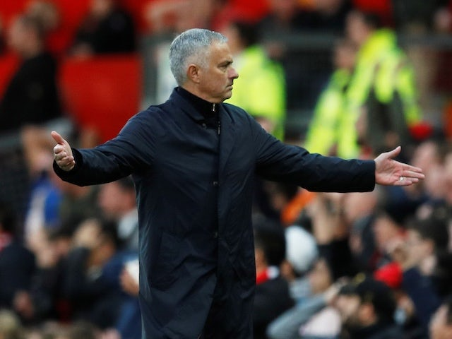 Manchester United manager Jose Mourinho reacts during his side's Premier League clash with Newcastle United on October 6, 2018