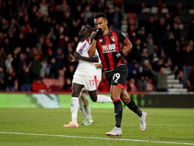 Junior Stanislas celebrates scoring from the spot during the Premier League game between Bournemouth and Crystal Palace on October 1, 2018