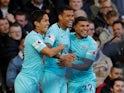 Newcastle United forward Kenedy celebrates after scoring against Manchester United on October 6, 2018