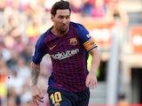 Lionel Messi in action for Barcelona on September 29, 2018