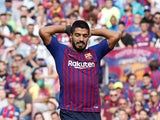 Luis Suarez in action for Barcelona on September 29, 2018