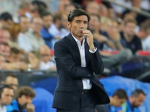 Valencia manager Marcelino watches on during his side's Champions League clash with Juventus in September 2018