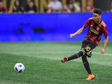 Miguel Almiron playing for Atlanta United in April 2018.