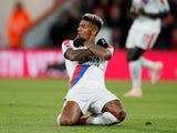 Crystal Palace full-back Patrick van Aanholt celebrates after scoring in his side's Premier League clash with Bournemouth on October 1, 2018