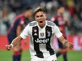 Paulo Dybala in action for Juventus on September 26, 2018