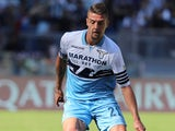 Sergej Milinkovic-Savic in action for Lazio on September 29, 2018