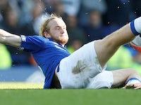 Tom Davies in action for Everton on September 29, 2018