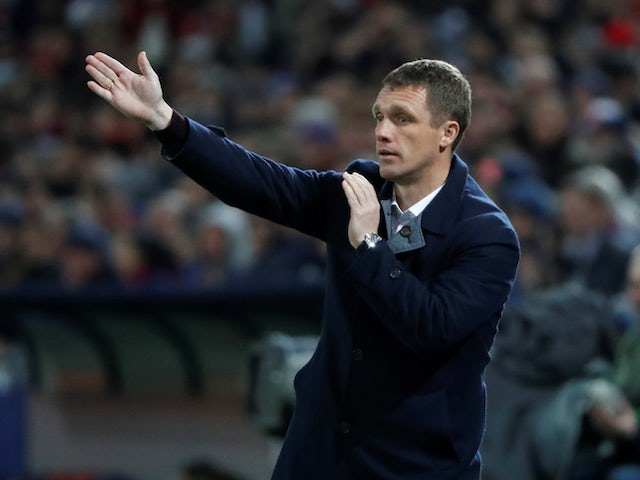 CSKA Moscow manager Viktor Goncharenko pictured on April 12, 2018