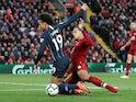 Virgil van Dijk fouls Leroy Sane in Liverpool's goalless Premier League draw with Manchester City on October 7, 2018