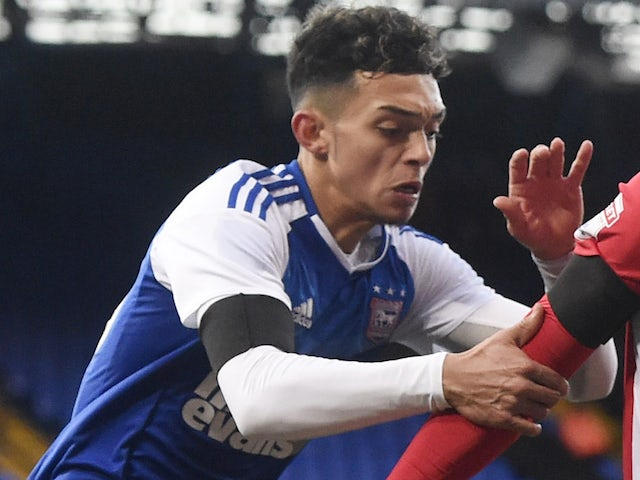 Andre Dozzell in action for Ipswich Town in January 2017