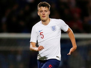 Dael Fry in action for England Under-21s on October 11, 2018