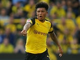 Jadon Sancho in action for Borussia Dortmund on October 6, 2018