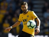 Joao Moutinho in action for Wolverhampton Wanderers against Crystal Palace on October 6, 2018