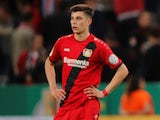 Kai Havertz in action for Bayer Leverkusen in April 2018
