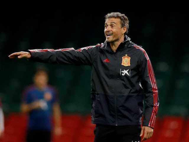 Luis Enrique in charge of Spain on October 8, 2018