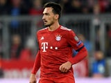 Mats Hummels in action for Bayern Munich on October 2, 2018
