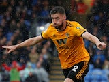 Matt Doherty celebrates scoring for Wolverhampton Wanderers against Crystal Palace on October 6, 2018