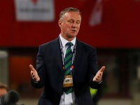 Michael O'Neill in charge of Northern Ireland on October 12, 2018
