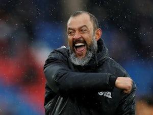 Wolverhampton Wanderers head coach Nuno Espirito Santo celebrates his side's latest victory on October 6, 2018