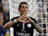 Paris Saint-Germain midfielder Angel Di Maria celebrates scoring during his side's Champions League win over Red Star Belgrade on October 3, 2018